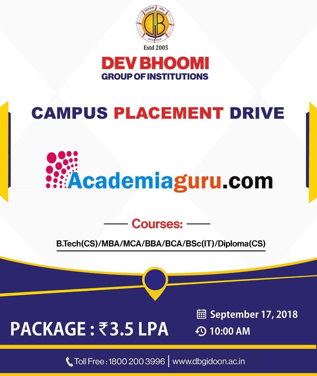 Campus Placement Drive of Academia Guru