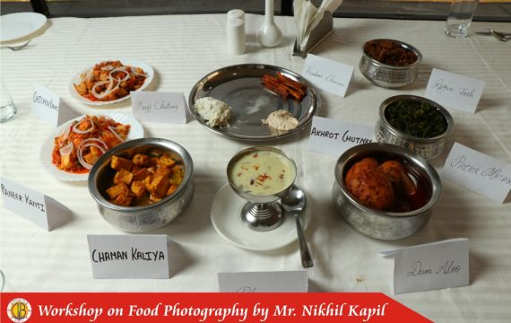 Workshop on Food Photography & Kashmiri Cuisine by Department of Hotel Management