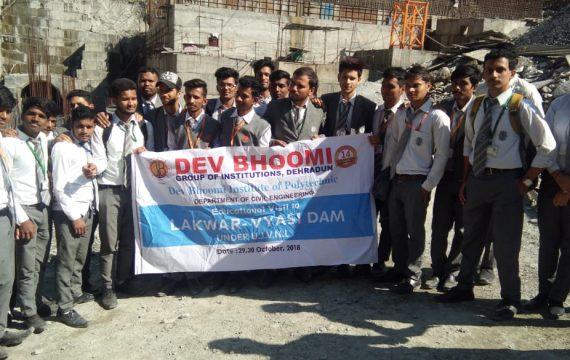 Industrial Visit – LAKHWAR DAM by Department of Civil Engineering