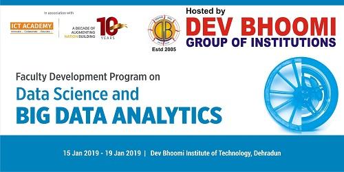 Faculty Development Program on Data Science & Big data Analytics at Dev Bhoomi Institute of Technology, Dehradun