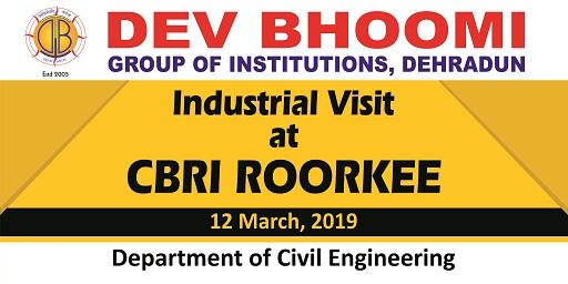 Industrial Visit at CBRI Roorkee by Department of Civil Engineering