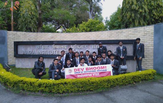 Industrial Visit to Wadia Institute of Himalayan Geology, Dehradun by Department of Civil Engineering