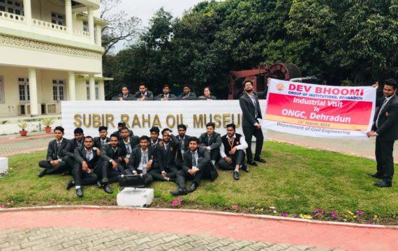 Industrial Visit  ONGC Dehradun by Department of Civil Engineering