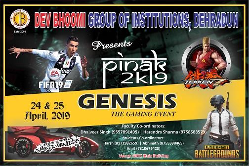 Pinak-2019 – Genesis – The gaming Event