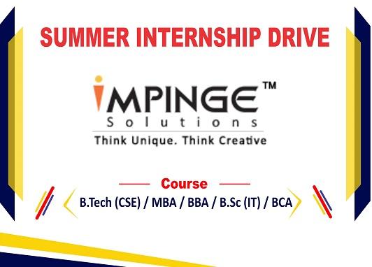 Impinge solutions Internship Drive