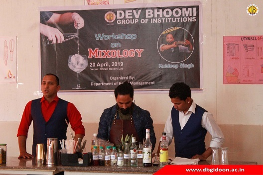Workshop on Mixology by Department of Hotel Management