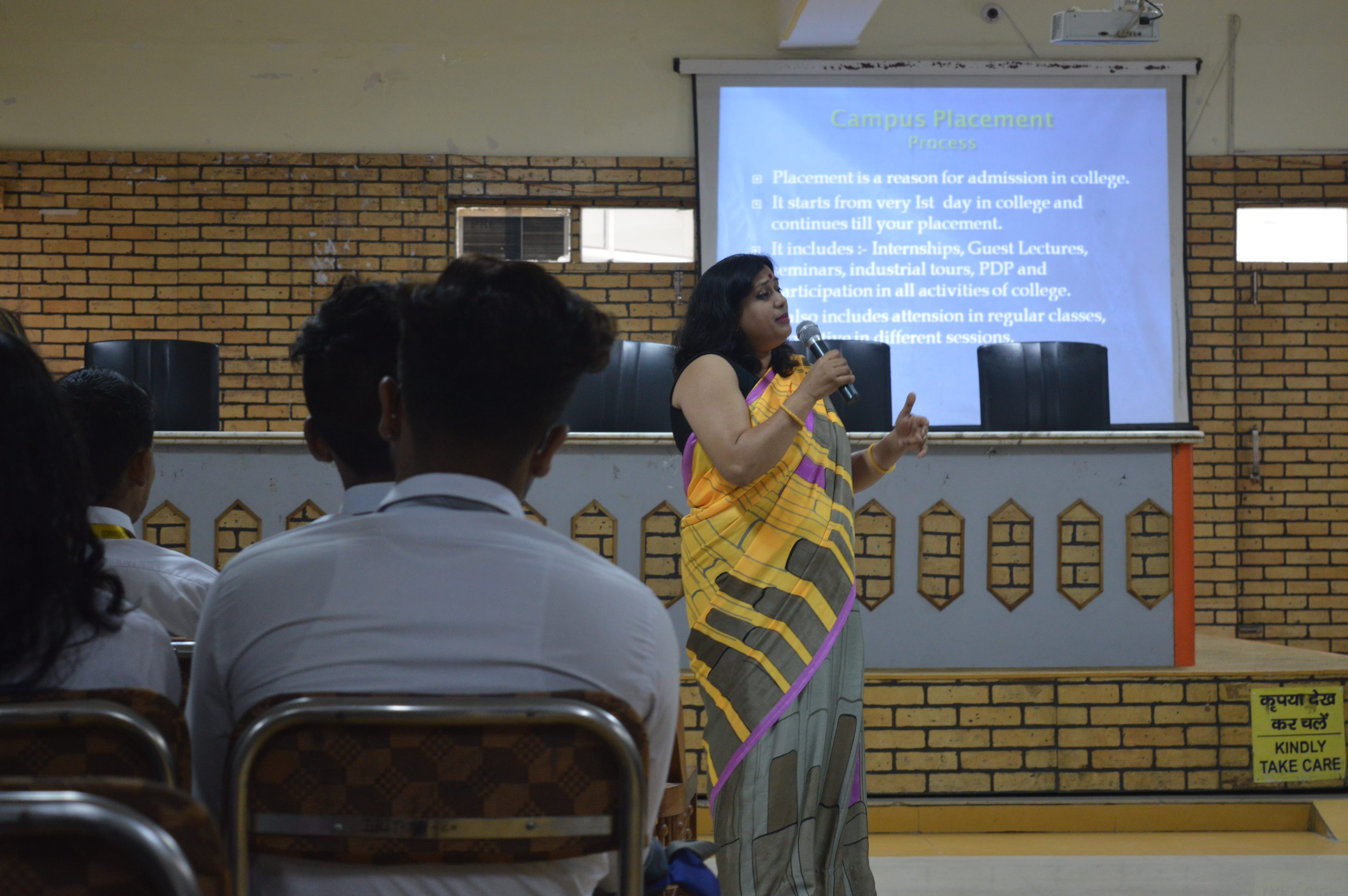 Placement talk by MCA Dept