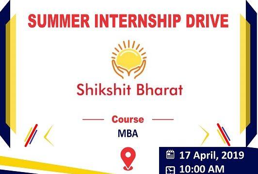 Internship Drive of Shikshit Bharat