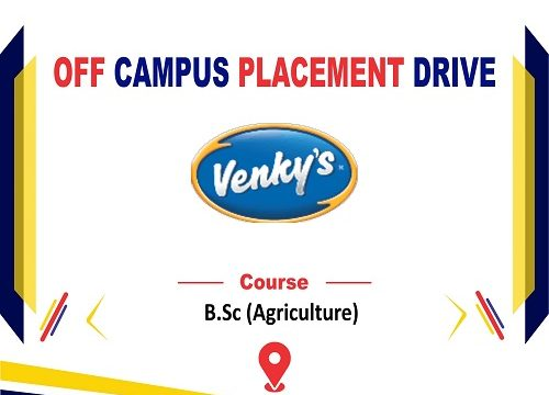 Off Campus Placement Drive of Venky's India