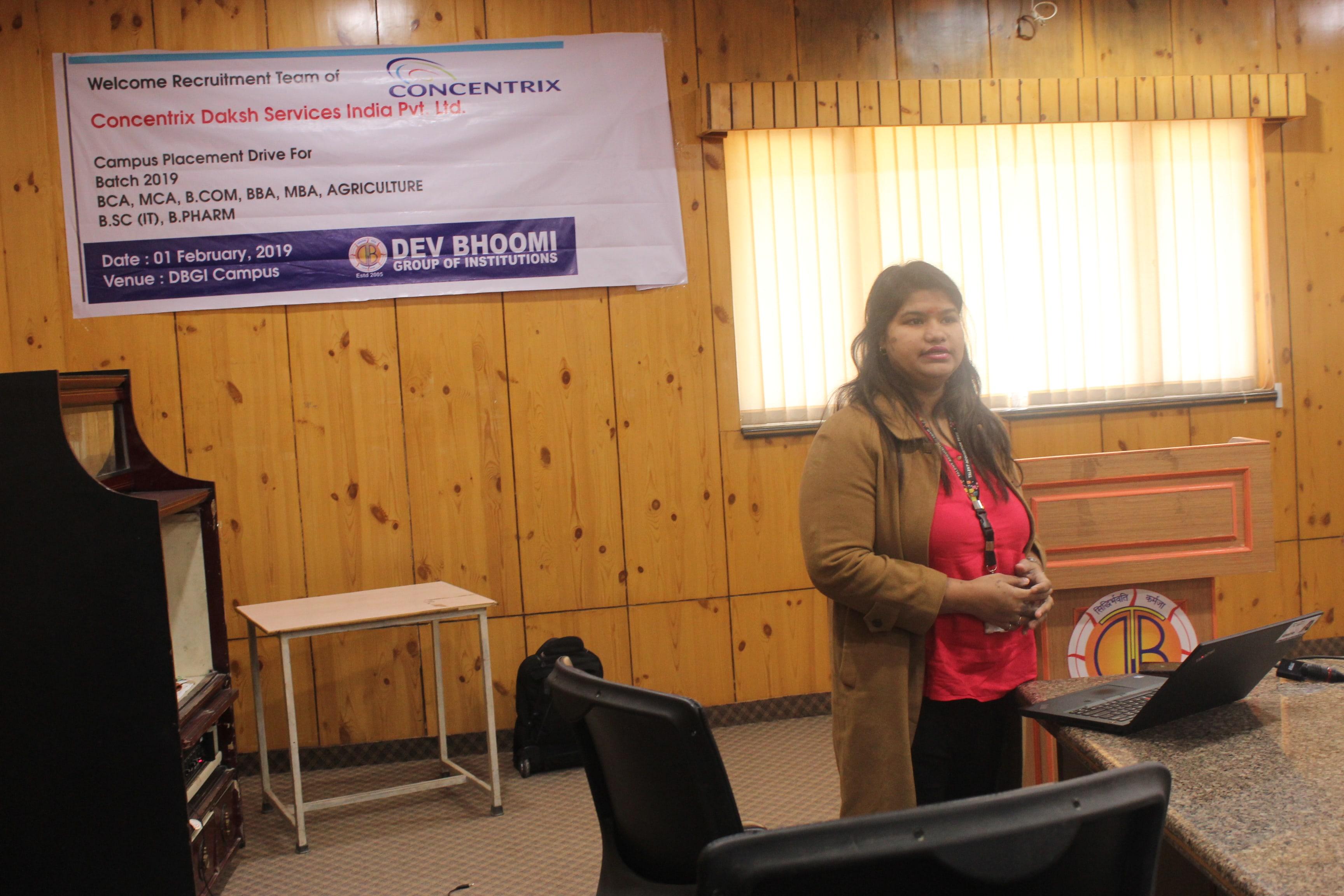 Campus Placement Drive of Concentrix Pvt Ltd