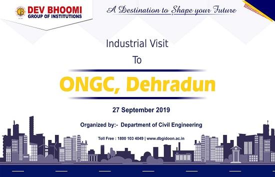 Industrial visit at ONGC Dehradun by Department of civil engineering