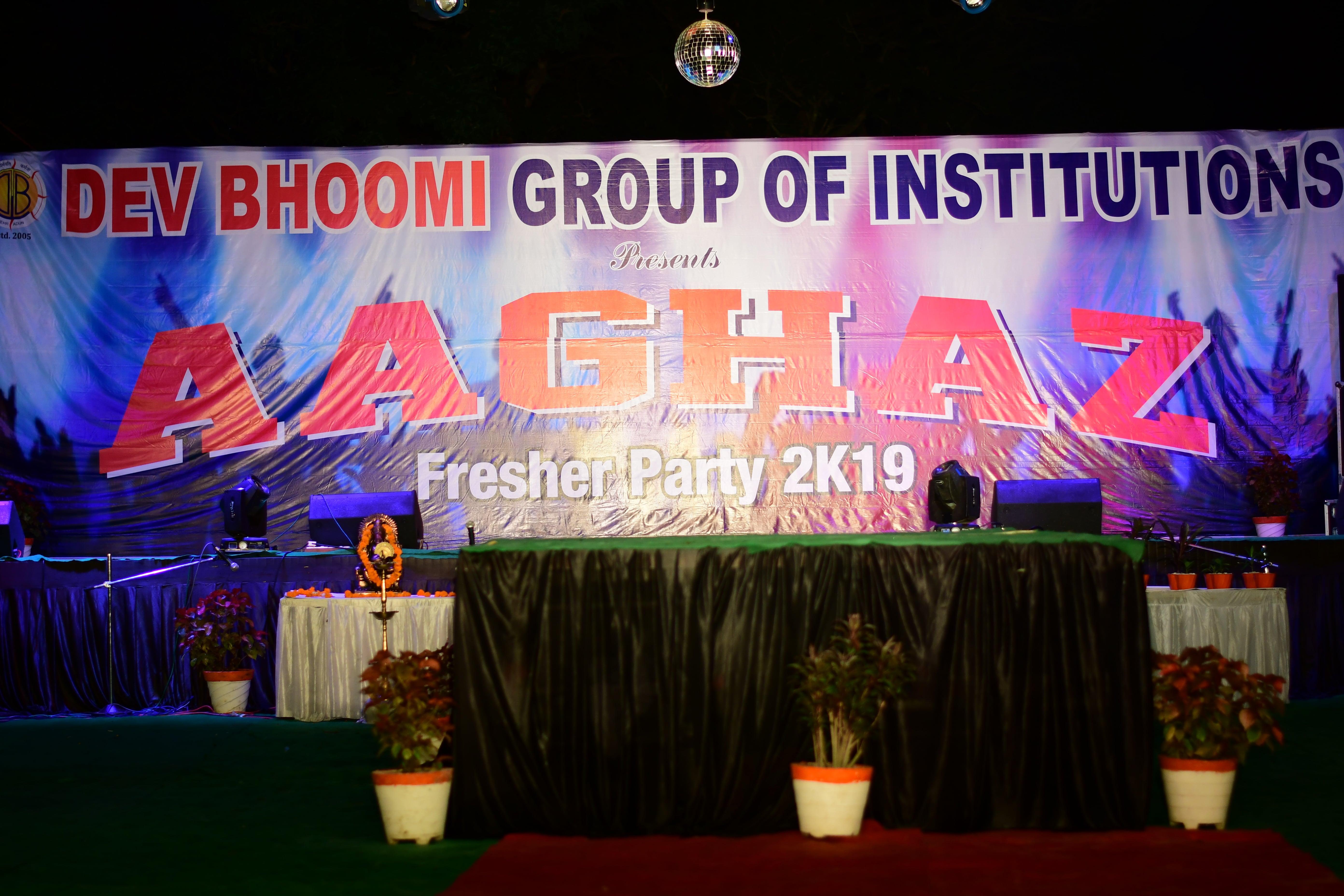 AAGHAZ – Fresher Party 2019  DBGI Dehradun