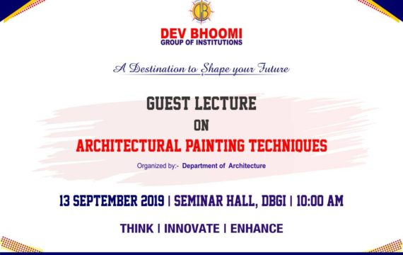 Guest lecture on Architectural Painting Techniques