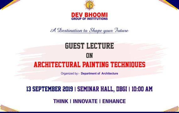 Guest lectureon Architectural Painting Techniques