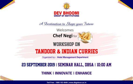 Workshop on Tandoori Cuisine by Department of Hotel Management