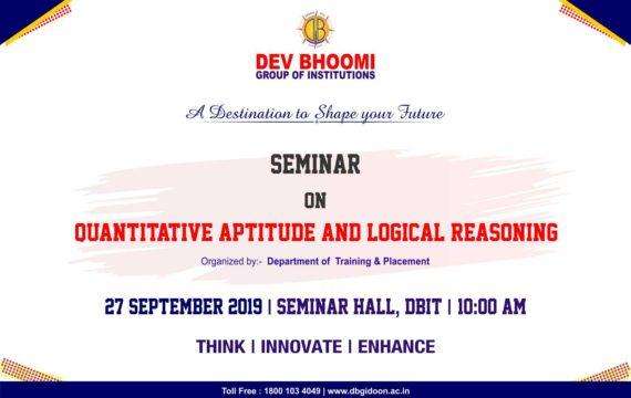 Seminar on Quantitative Aptitude and Logical Reasoning