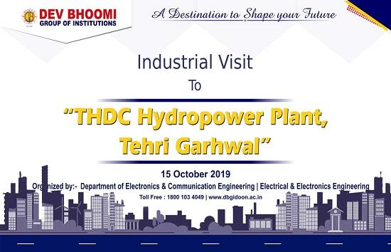 "Industrial Visit to ""THDC Hydropower Plant, Tehri Garhwal"""