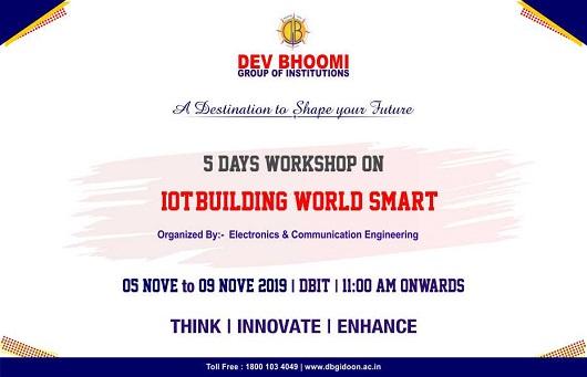 "5 Days Workshop on ""IOT-Building World Smart"""