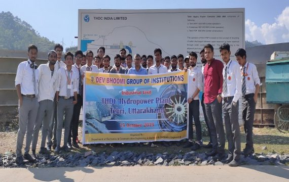 """Industrial Visit to """"THDC Hydropower Plant, Tehri Garhwal"""" by Department of Civil Engineering"""