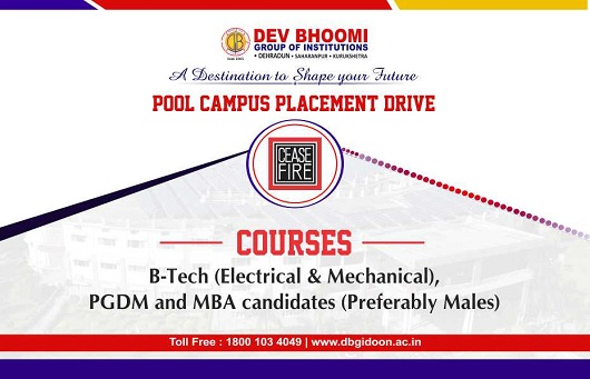 Pool Campus Placement Drive ofCeasefire Industries Pvt. Ltd