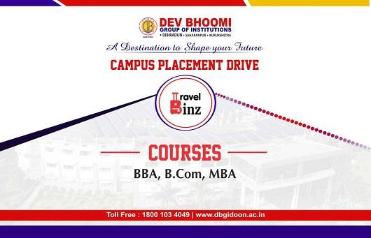 Campus Placement Drive ofTravel Binz